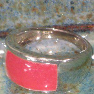 Sundance Catalog Red Jade Ring Sterling 7